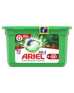 Ariel  Detergente capsulas  all in one ultra oxy effect  10 unidades