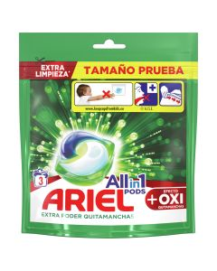 Ariel  Detergente capsulas  all in one ultra oxy effect  3 unidades