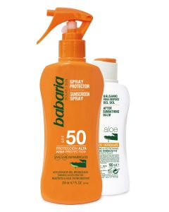 Pack (pistola spray protector 200 ml.f-50+after 100 ml.aloe)