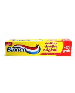 binaca  dentifrico original   75 ml+33% gratis=100 ml