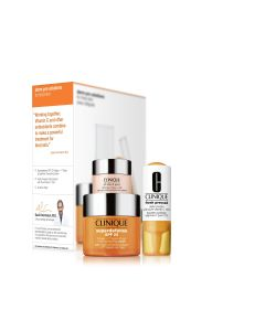 clinique superdefense estuche 2 spf25 crema 50ml+vial fresh-pressed booster con pure vitamina c+7 day scrub 30ml