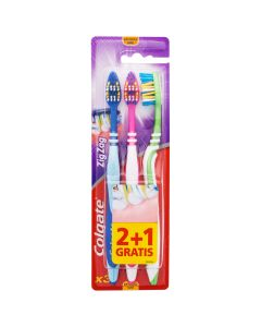 Cepillo dental manual zig-zag pack 3 uds suave