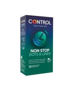 Preservativo non stop dots & lines 12 uds