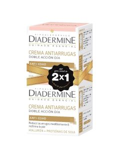 Crema dia antiarrugas 50 ml pack 2x1  doble accion