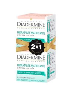 Crema dia hidratante matificante 50 ml pack 2x1  piel normal-mixta
