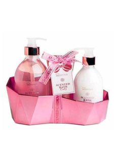 Scented rubi geometric 3 piezas (gel baño dosif. 500ml+body dosif.300ml.+exfoliante 100ml)