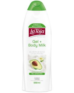 Gel baño +body milk aguacate piel ultrasuave  550 ml