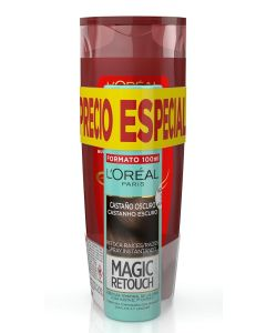 magic retouch  retoca raices tinte spray 100ml.2 brun castaño oscuro + elvive champu 285ml color vive
