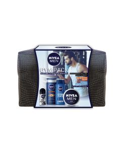 Nivea Men Estuche gympack crema 75ml lata+gel sport 250ml+champu 250 ml+desod.roll-on 50ml+neceser