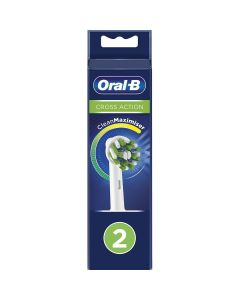 oral-b cross action cepillo dental electrico recambio pack 2 unidades