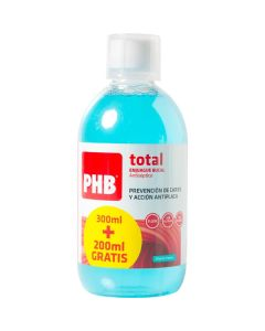 Colutorio enjuage bucal total 300 ml+200 ml