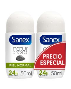 Sanex Natur Protect Desodorante roll-on  piel normal  pack 2 ud 50 ml