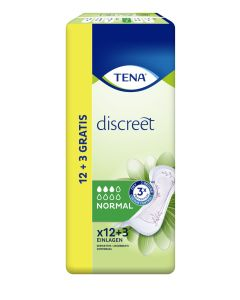 Tena Discreet Incontinencia  compresa normal 12 + 3ud