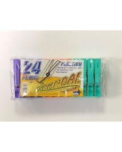 Pinzas plastico normal (blister 24ud)