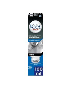 Veet For Men Crema depilatoria axilas roll-on piel sensible  100 ml