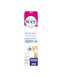 Veet Minima Crema depilatoria cuerpo&piernas roll-on piel sensible  100 ml