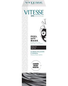 Mascarilla facial carbon peel off efecto detox tubo   75 ml